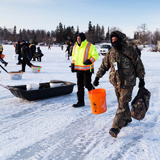 What to pack and wear lac du bonnet ice fishing derby for Ice fishing derby